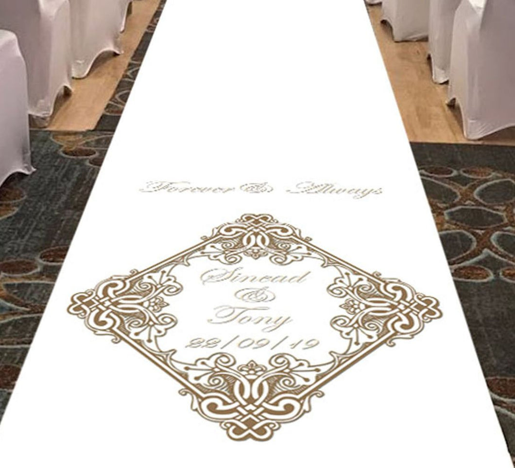 Forever & Always - Personalised Wedding Aisle Runner