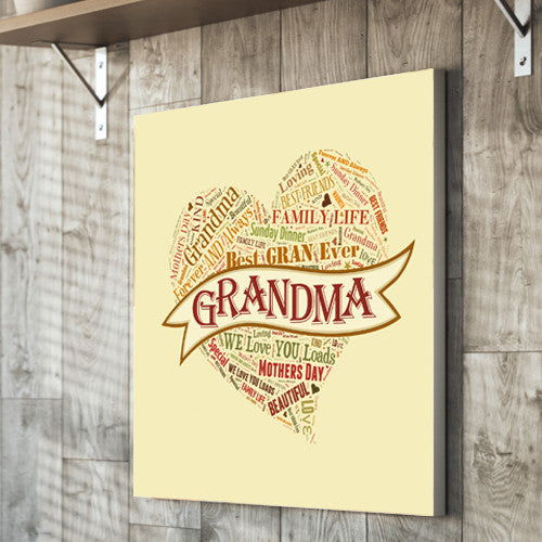 Mother's Day Text Montage gift personalised unique mother grandma nan granny