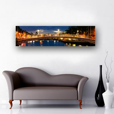 Ha'Penny Bridge Liffey Bridge Dublin city art.