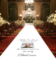 personalised wedding aisle runner remembrance photo upload