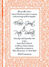 Load image into Gallery viewer, Wedding invitation personalised created to order summer breeze day invite evening invitation