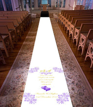 Load image into Gallery viewer, Personalised wedding aisle runner ordinary lift theme intials and text