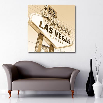 Las Vegas Sign retro sepia