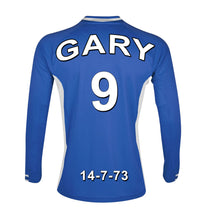 Leicester City blue and white  personalised football shirt canvas
