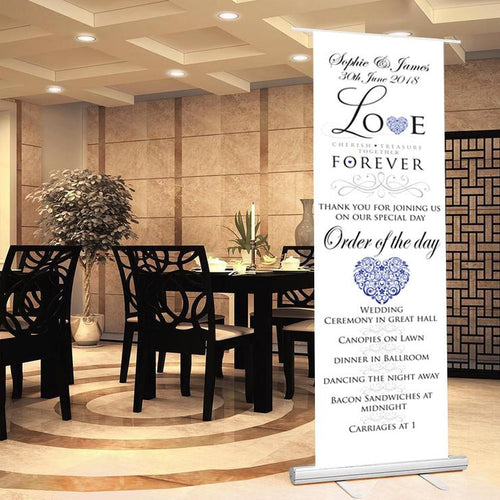 Wedding sign wedding banner welcome to wedding sign order of the day sign bride groom date of wedding wedding proceedings.LOVE theme