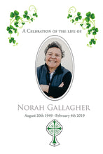 Load image into Gallery viewer, Celebrating The Life Memorial Picture - Irish theme