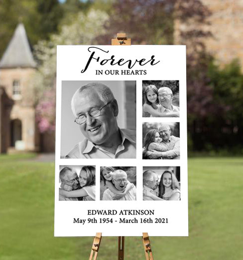 forever in our hearts memorial picture ideal for funerals & celebrating the life of loved one passed