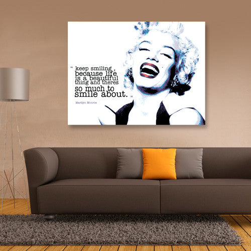 Marilyn Monroe wall canvas icon movie star