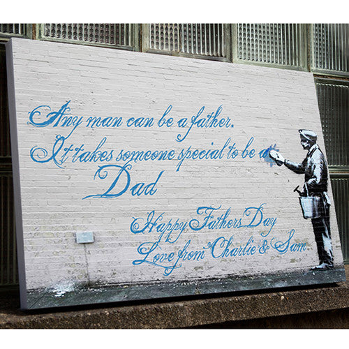 Banksy Father's Day canvas gift dad grandad