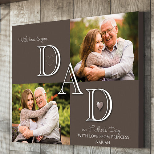 Dad personalised Father's day canvas grandad gift