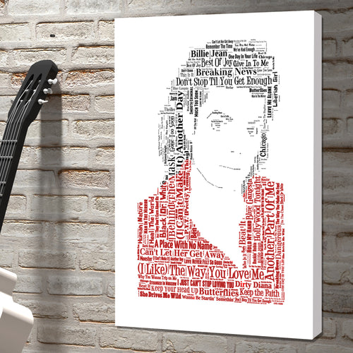 Michael Jackson word art canvas king of pop