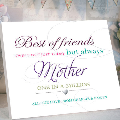 Best Friends Mother's Day Personalised Canvas