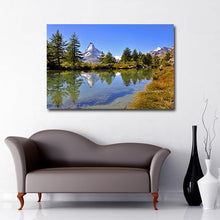 Matterhorn over Lake Riffelsee canvas art