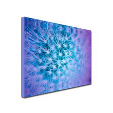 Landscape Art Canvas of close up thistle head in lilac and blue