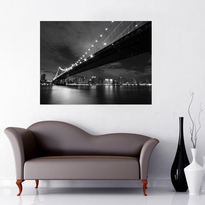 New York City Washington Bridge black and white image