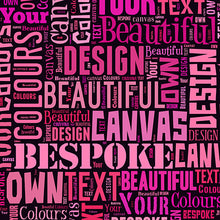 Load image into Gallery viewer, Text Montage Canvas Punk Princess Mother's Day Text Montage gift personalised unique mother grandma nan granny