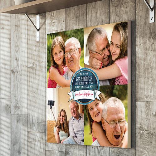 Father's Day canvas gift photo upload dad, grandad, dad