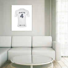 Real Madrid Football Club white personalised football shirt canvas