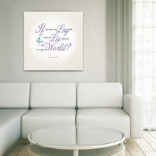 Load image into Gallery viewer, Portrait Art Canvas, Song Lyrics from Snow Patrol - Chasing Cars
