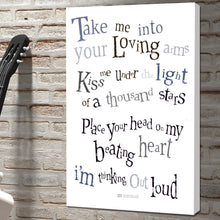 Portrait Art Canvas, Song Lyrics from Ed Sheeran - Thinking out Loud