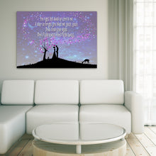 Load image into Gallery viewer, Landscape Art Canvas of lyrics from Take That, Rule The World