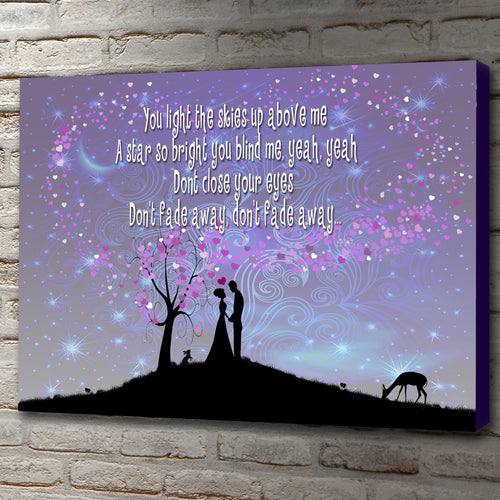 Landscape Art Canvas of lyrics from Take That, Rule The World