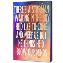 Portrait Art Canvas, Song Lyrics from David Bowie - Starman