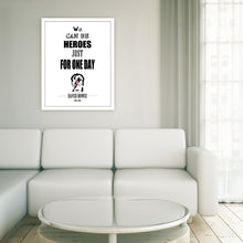 Load image into Gallery viewer, Portrait Art Canvas, Song Lyrics from David Bowie - Heroes