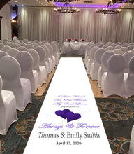 personalised wedding aisle runner song of solomon bible reading for weddings theme