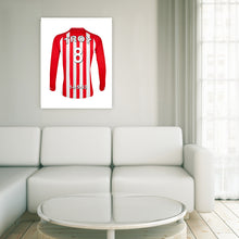 Southampton Personalised Football Shirt Canvas