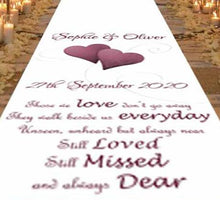 Still Loved, Still Missed, Always - Personalised Wedding Aisle Runner