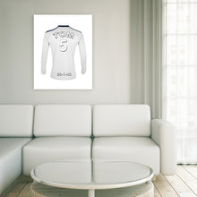 Load image into Gallery viewer, Swansea Football Club white personalised football shirt canvas