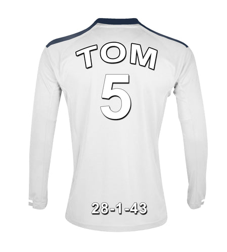 Swansea Football Club white personalised football shirt canvas