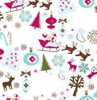 christmas table runner pinks and blues santa sleigh reindeer table decoration