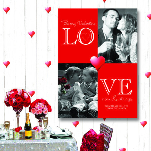 LOVE Text Photo Canvas