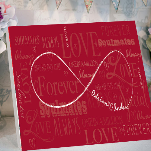 Desktop valentines card canvas personalise infinity