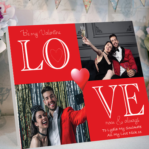 Valentines LOVE Quadrant Desktop Canvas Card