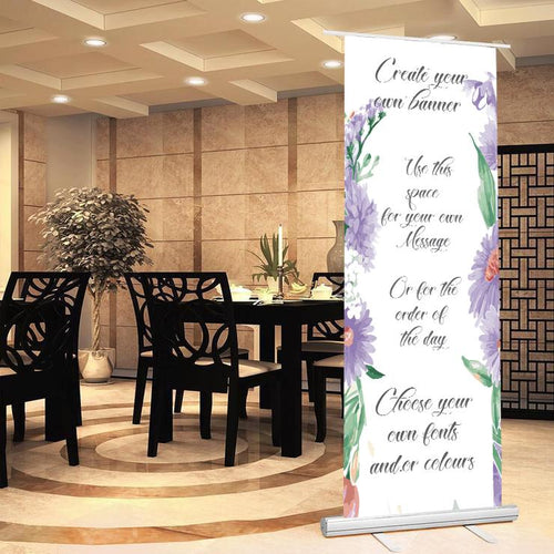 Personalised Create your Own Wedding Roll up Banner Sign