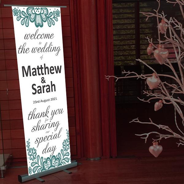 wedding welcome pop up sign welcome guest to the wedding