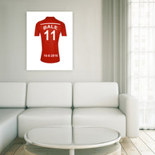Load image into Gallery viewer, Wales National Football Team Personalised Football Shirt Canvas