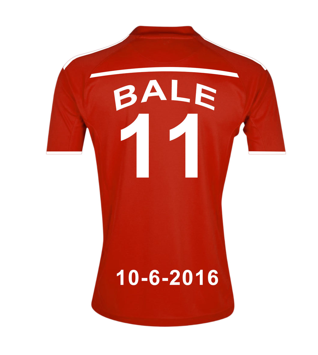 Wales National Football Team Personalised Football Shirt Canvas