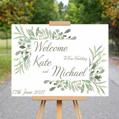 Wedding Welcome Sign - Fauna