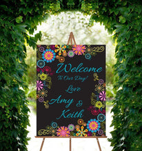 Wedding Welcome Sign - Psychedelic