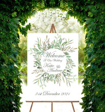 Wedding Welcome Sign - Flora