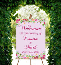 Load image into Gallery viewer, Wedding Welcome Sign - Flower Power