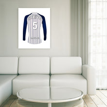 West Bromwich blue and white  personalised football shirt canvas