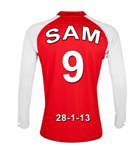 Arsenal red and white  personalised football shirt canvas