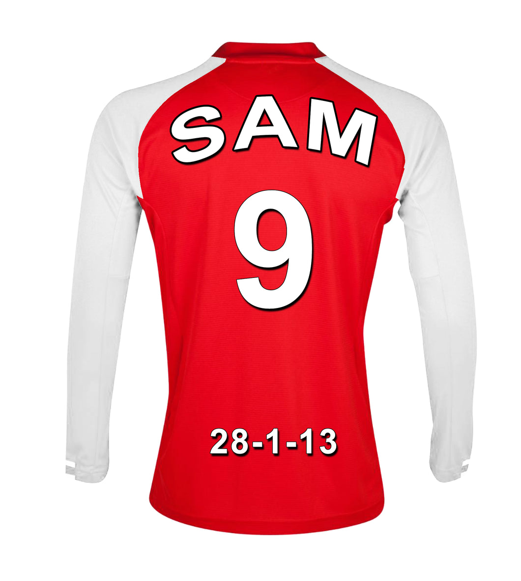 premium selection 8d5f8 1e600 Arsenal Personalised Football Shirt Canvas
