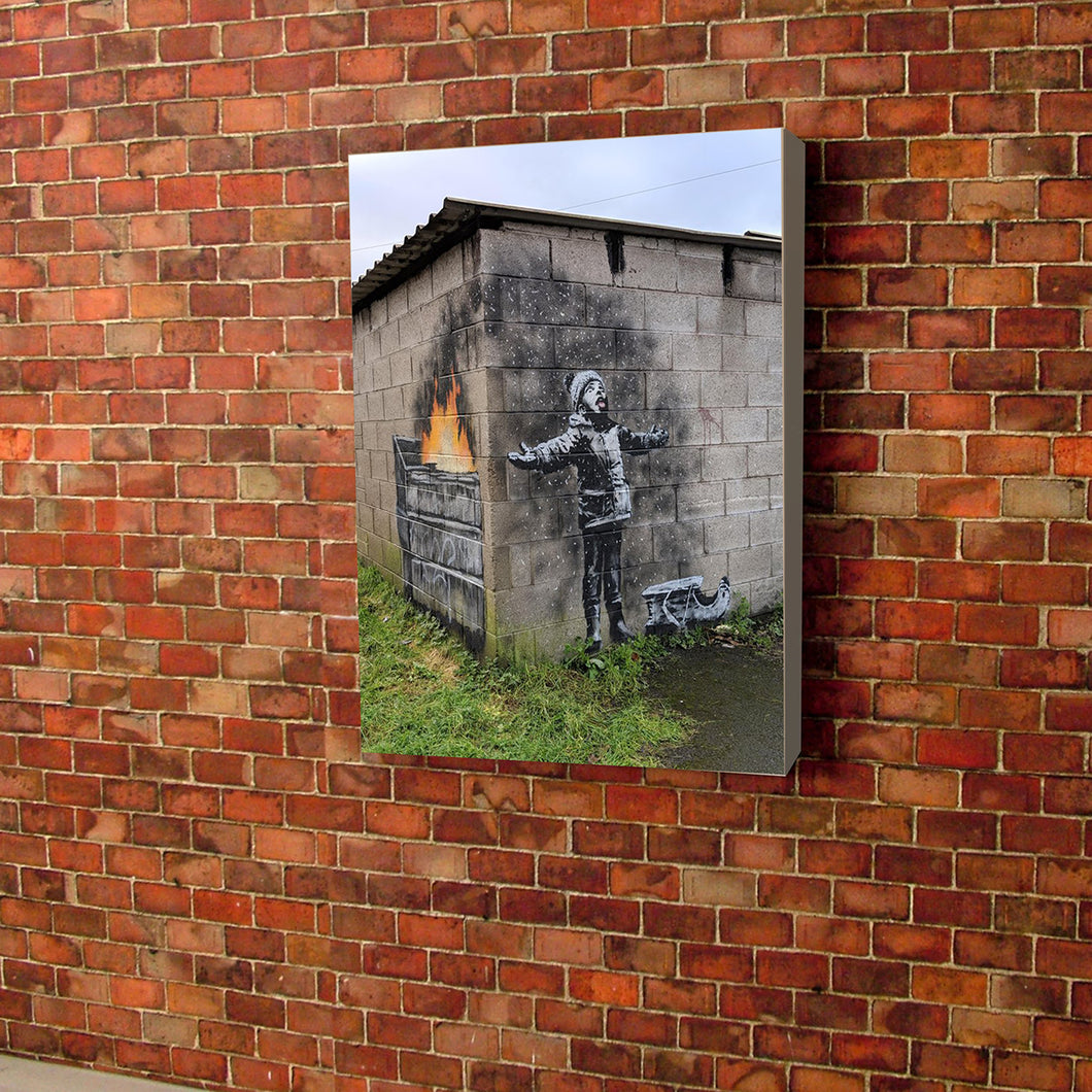 Banksy Greenhouse gases Port Talbot wales pollution