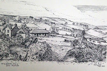 Load image into Gallery viewer, Canvas Print landscape sketch, wilsden, R Fawcett